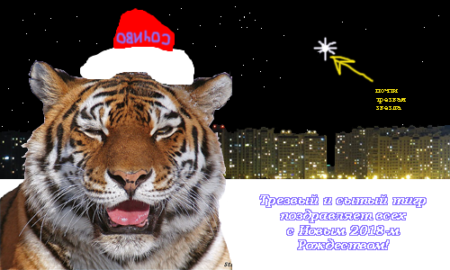 Tiger поздравляет с Рождеством!